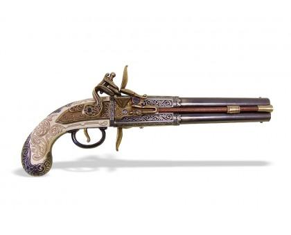 Пистолет двуствольный кремневый W. Bailes