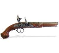 Пистолет кремниевый 18 в. классический