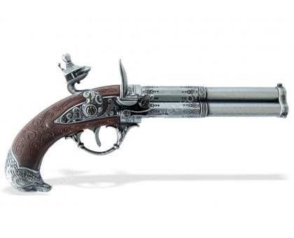 Пистолет трехствольный кремневый Франция 18 в.