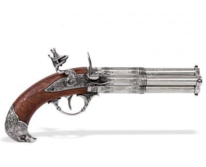 Пистолет четырехствольный кремневый Франция 18 в.