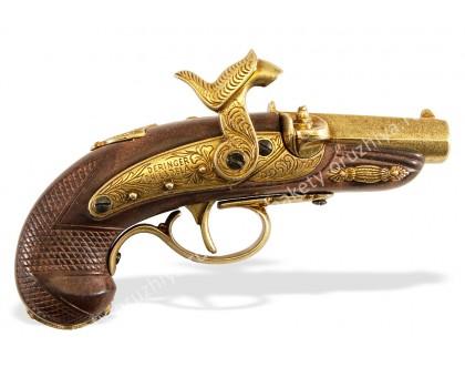Пистолет Деринджер Филадельфия США 1862 г. капсюльный латунь