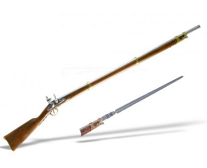 Кремневое ружье со штыком 1806 года Франция