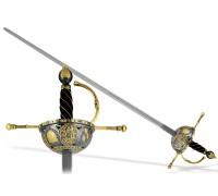 """Шпага испанская """"Казолета"""" XVI в. черно-золотая"""